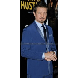 Jeremy Renner Deep Blue Notch Lapel Tuxedo Suit