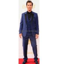 Matthew McConaughey Mid Blue Tuxedo Suit