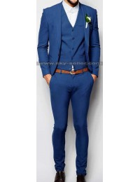 Men's Mid Blue Slim Fit Wedding Suit