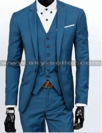 Men's Slim Fit Notch Lapel Wedding Tuxedo Suit