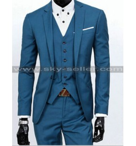 Men's Slim Fit Notch Lapel Wedding Tuxedo Suit