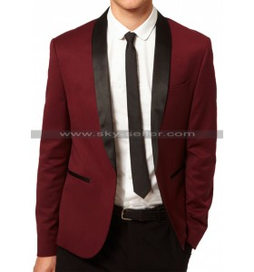 Red Wine Skinny Fit Prom Tuxedo Suit