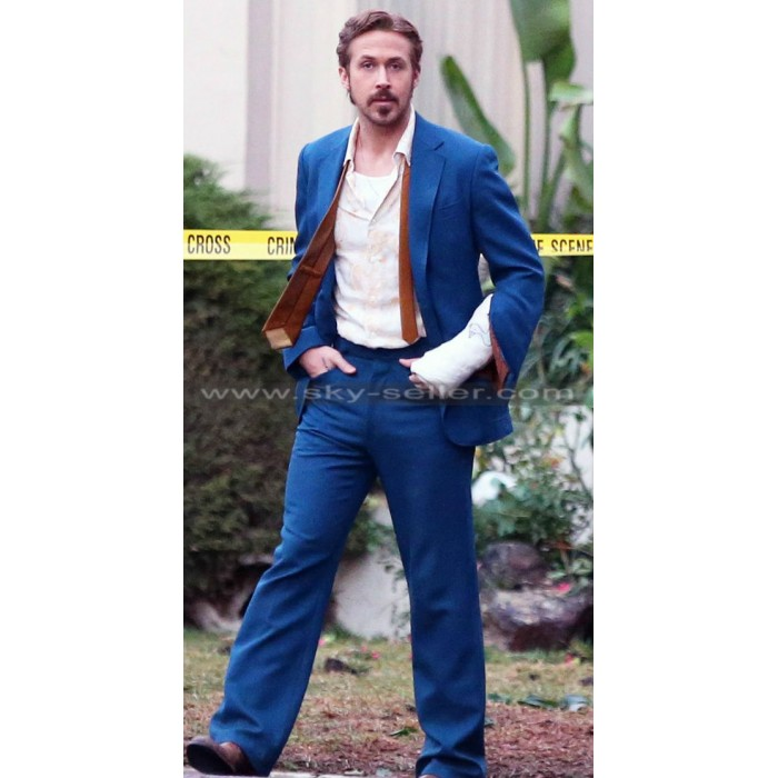 Ryan Gosling The Nice Guys Mid Blue Suit