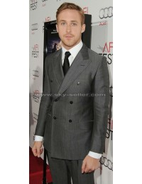 Ryan Gosling Double-Breasted Grey Suit