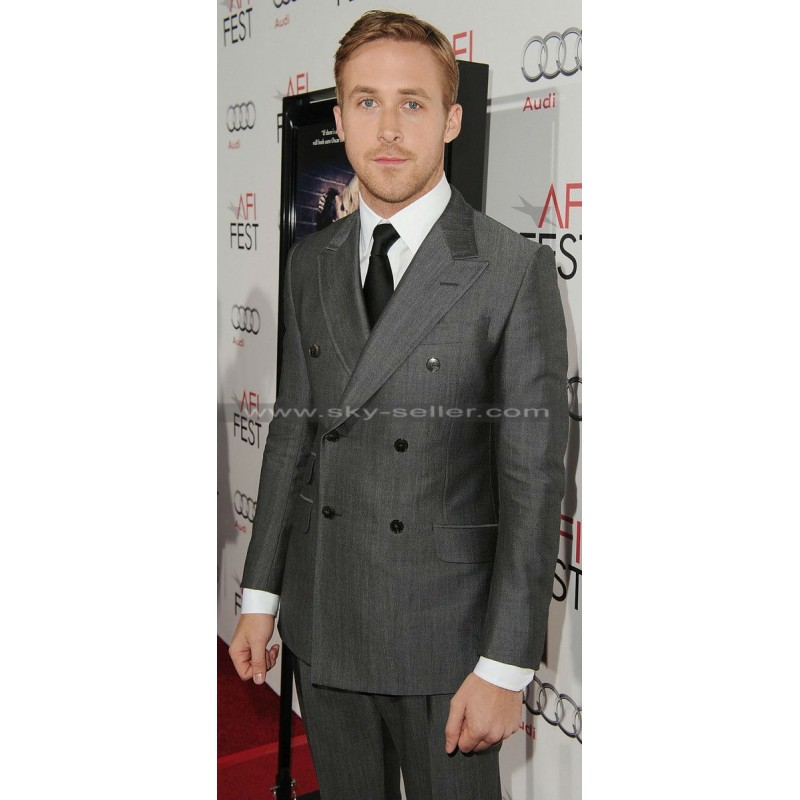 Gosling Double-Breasted Grey Suit