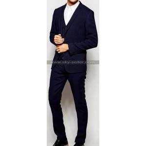 Men's Skinny Fit Wedding Navy Suit