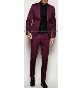 Super Skinny Fit with Stretch Contrast Piping Suit