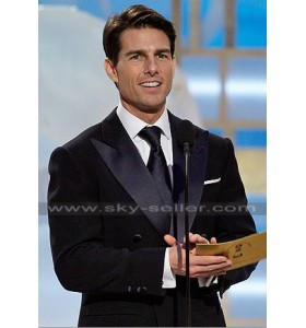 Tom Cruise Double Breasted Black Tuxedo Suit