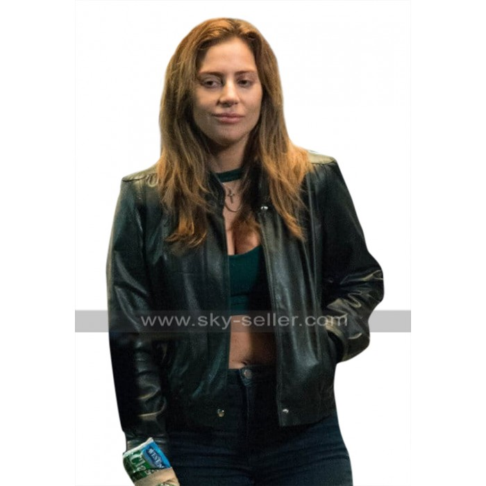 A Star Is Born Lady Gaga (Ally) Black Leather Jacket