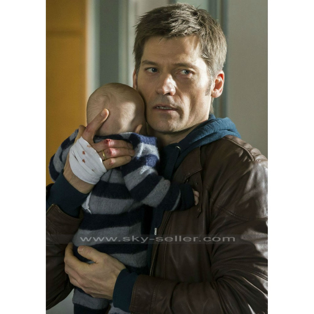 Andreas Second Chance Nikolaj Coster‑Waldau Brown Jacket