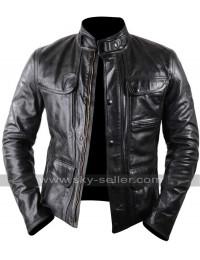 Terminator Genisys Arnold Schwarzenegger Leather Jacket