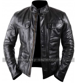 Terminator Genisys Arnold Schwarzenegger Black Leather Jacket