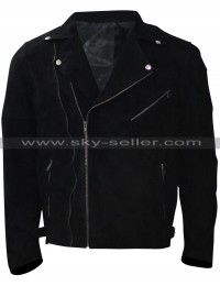 Jon Hamm Baby Driver Buddy Black Suede Jacket
