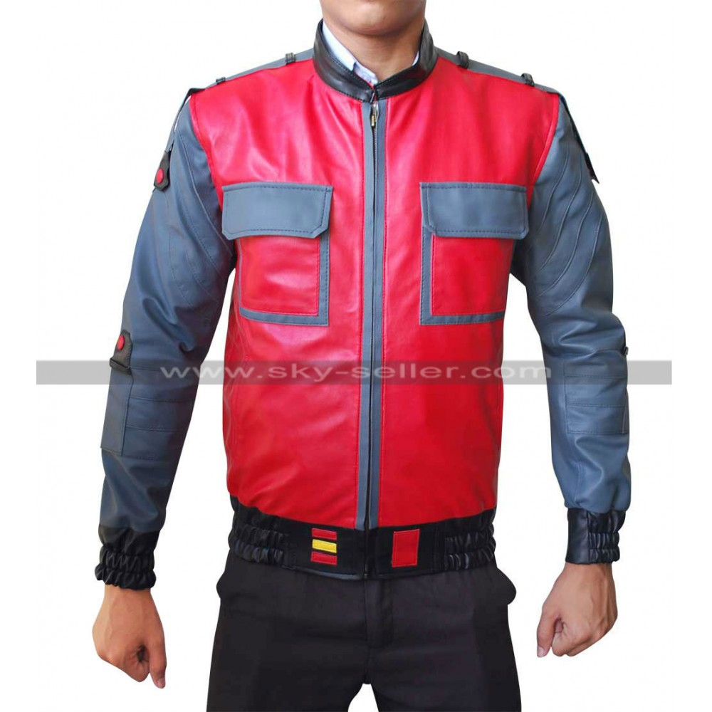 Back to the Future Marty McFly 2015 Bomber Jacket
