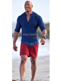 Baywatch Dwayne Johnson Lifeguard Blue Jacket