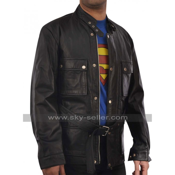 Brad Pitt Benjamin Button Biker Leather Jacket