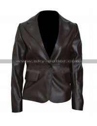Black Widow Captain America Winter Soldier Leather Blazer
