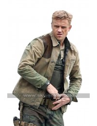 The Predator Quinn McKenna (Boyd Holbrook) Brown Leather / Cotton Jacket