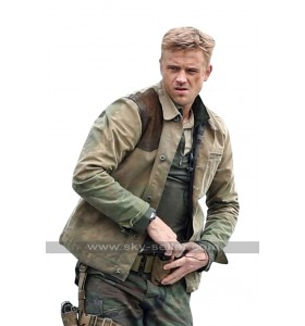 The Predator Quinn McKenna (Boyd Holbrook) Brown Leather / Cotton Jacket