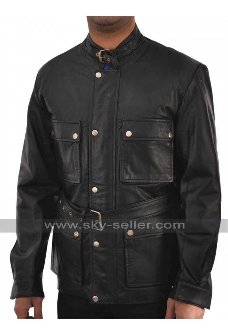 Benjamin button leather jacket