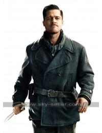 Inglourious Basterds Brad Pitt Wool Pea Coat