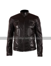 Chris Pine Star Trek James T. Kirk Black Leather Jacket