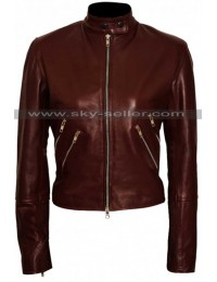 Jack Reacher Never Go Back Cobie Smulders Leather Jacket