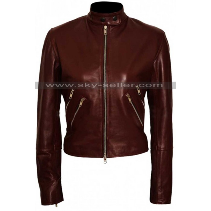 Jack Reacher Never Go Back Cobie Smulders Leather Jacket