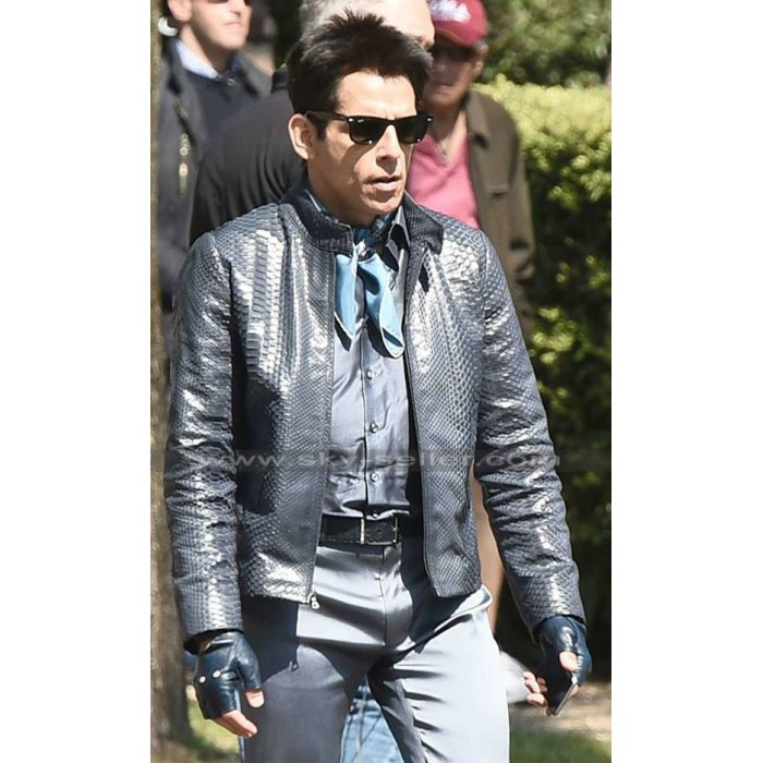 Derek Zoolander 2 Ben Stiller Black Leather Jacket