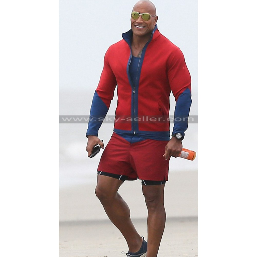 Dwayne Johnson Baywatch Red & Blue Jacket