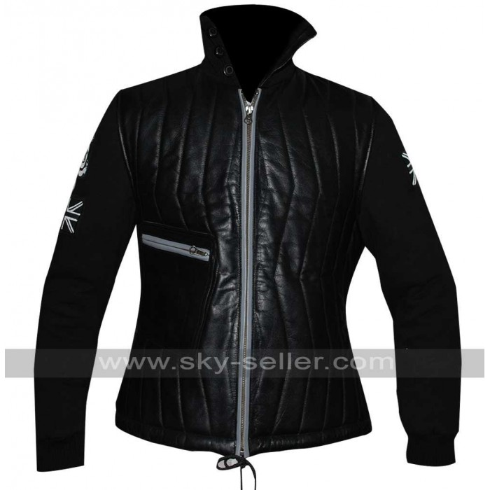 Edge of Tomorrow Emily Blunt Black Quilted Jacket