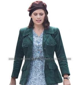 Christopher Robin Hayley Atwell Green Corduroy Jacket