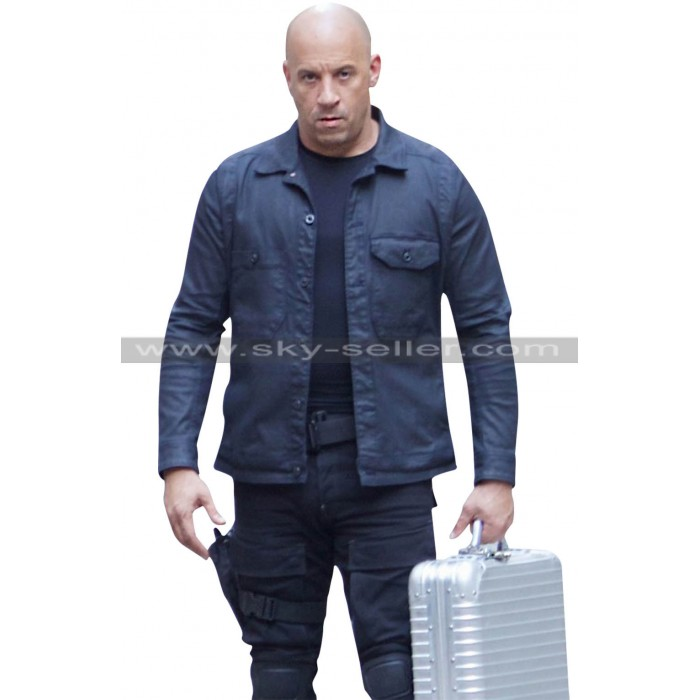 Vin Diesel Fast & Furious 8 Dominic Toretto Black Jacket
