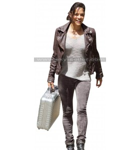 Letty Ortiz Fast & Furious 8 Michelle Rodriguez Leather Jacket
