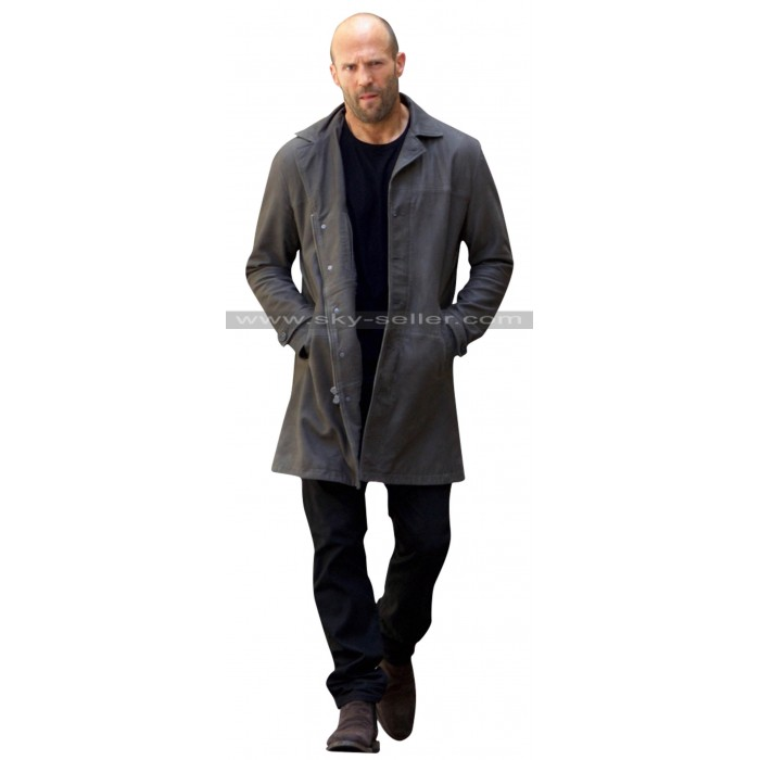 Fast and Furious 8 Jason Statham Black Leather Coat