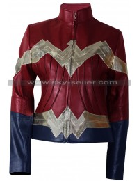 Wonder Woman Gal Gadot Costume Leather Jacket