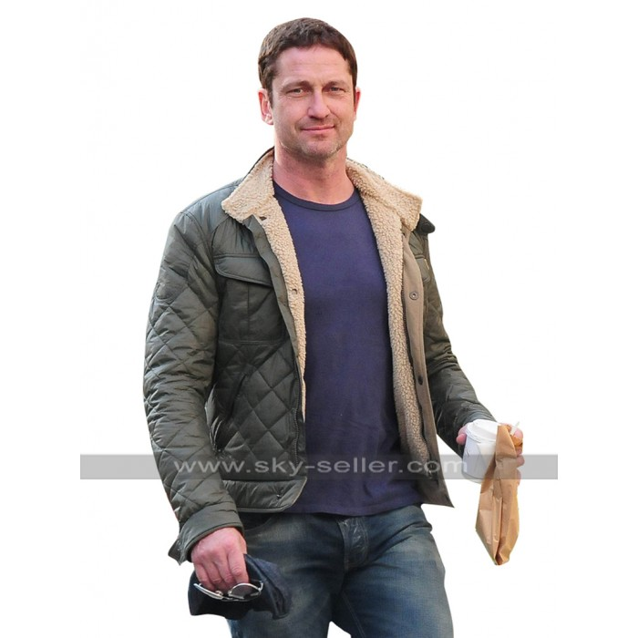 Hunter Killer Gerard Butler (Capt. Joe Glass) Quilted Satin Jacket