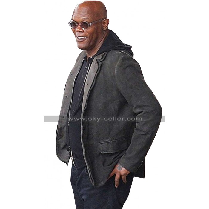 Samuel L Jackson The Hitmans Bodyguard Darius Kincaid Black Jacket