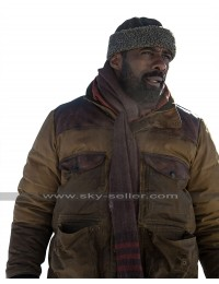The Mountain Between Us Idris Elba (Ben Bass) Brown Leather Jacket