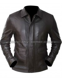 Indiana Jones and Kindom of Crystal Skull Harrison Ford Brown Leather Jacket