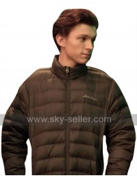 Avengers Infinity War Tom Holland (Peter Parker) Brown Parachute Jacket
