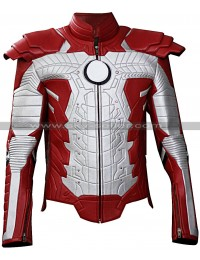 Iron Man 2 Mark V Motorcycle Suit Leather Jacket