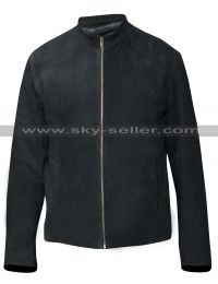 Bourne Ultimatum Matt Damon Black Suede Jacket