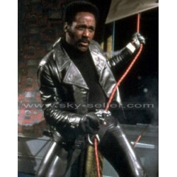 John Shaft Richard Roundtree Black Leather Jacket