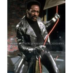 John Shaft Richard Roundtree Black Leather Jacket