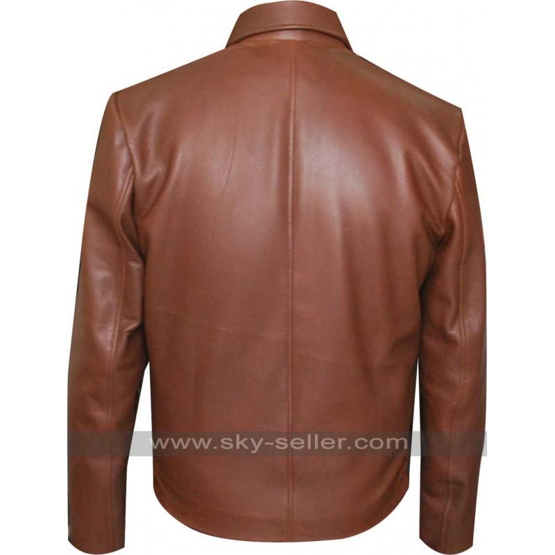 Reeves John Wick Brown Leather Jacket
