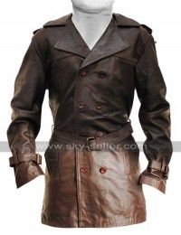 Johnny Depp Sweeney Todd Leather Trench Coat