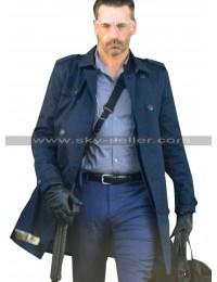 Baby Driver Jon Hamm (Buddy) Blue Cotton Coat