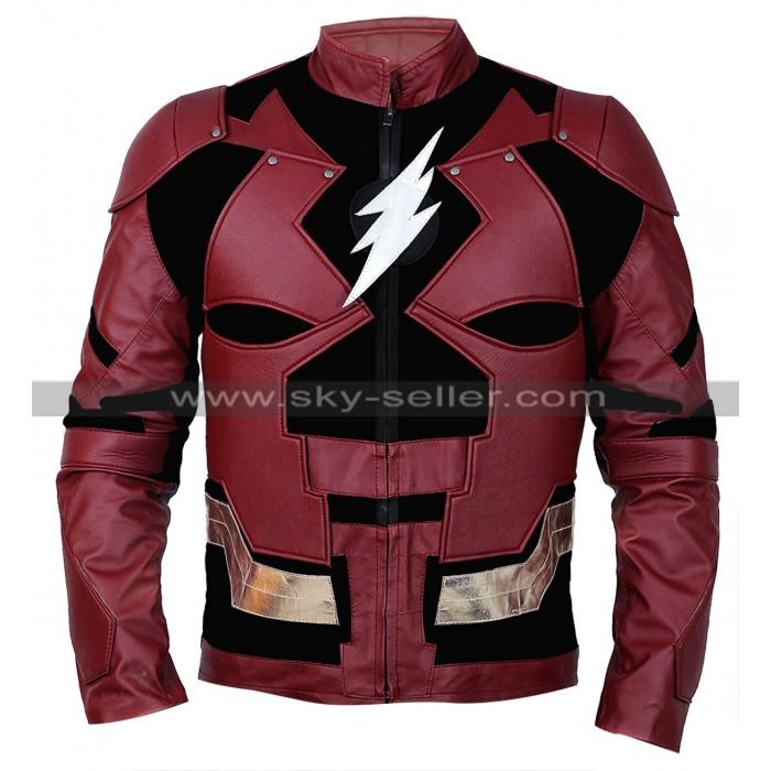 Justice League Flash Ezra Miller Costume Leather Jacket