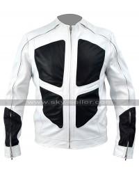Deadpool 2 Shatterstar (Lewis Tan) White Leather Jacket